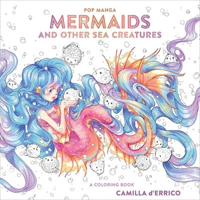 WATSON-GUPTILL POP MANGA MERMAIDS & OTHER SEA CREATURES COLORING BOOK PB