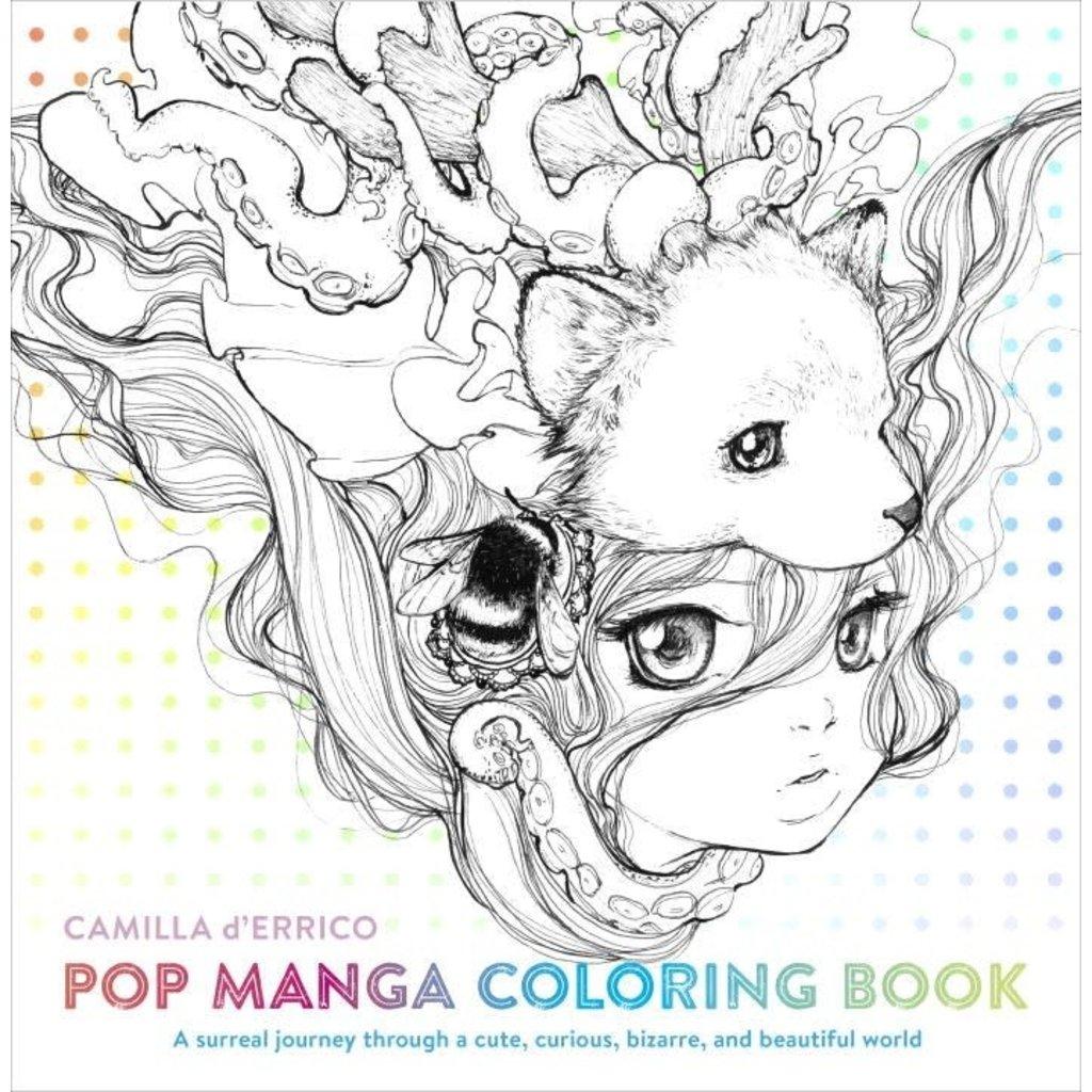WATSON-GUPTILL POP MANGA COLORING BOOK PB