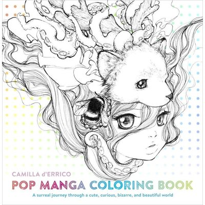WATSON-GUPTILL POP MANGA COLORING BOOK PB