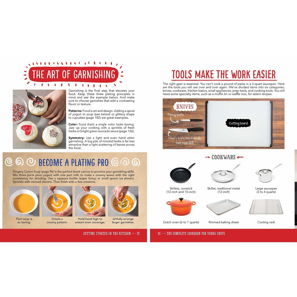 SOURCEBOOKS COMPLETE COOKBOOK FOR YOUNG CHEFS HB AMERICA TEST KITCHEN