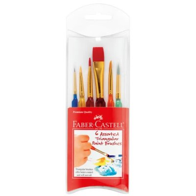 FABER CASTELL ASSORTED TRIANGULAR PAINT BRUSHES