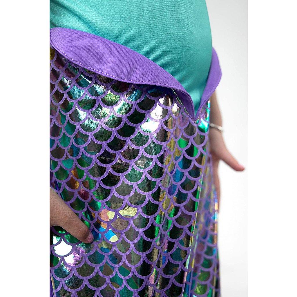 LITTLE ADVENTURES PURPLE SPARKLE MERMAID DRESS