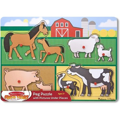 MELISSA AND DOUG PEG PUZZLE FARM