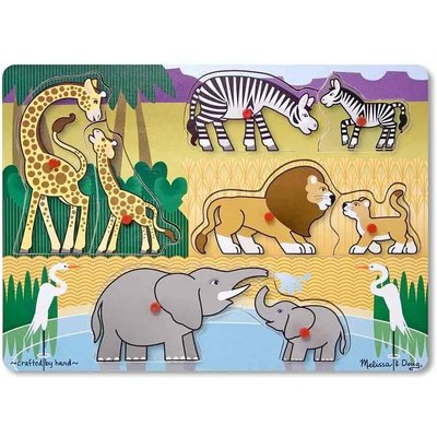 MELISSA AND DOUG PEG PUZZLE SAFARI