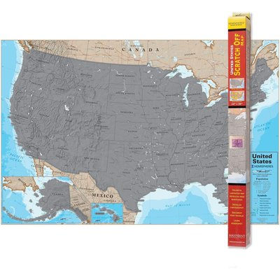 ROUND WORLD PRODUCTS SCRATCH OFF US MAP