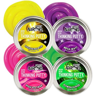CRAZY AARONS PUTTY ASSORTED MINI THINKING PUTTY COLORBRIGHTS