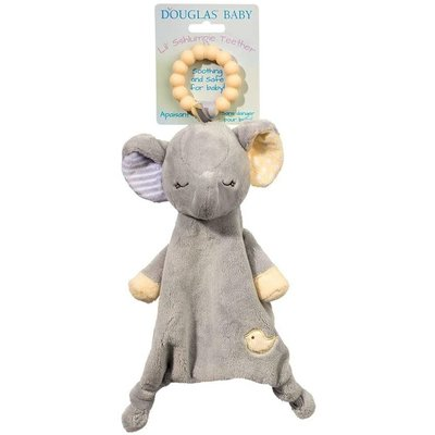 DOUGLAS COMPANY INC PLUSH TEETHER JOEY GRAY ELEPHANT