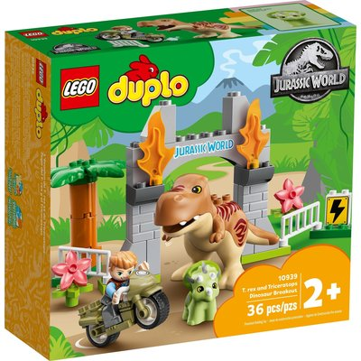 LEGO T. REX AND TRICERATOPS DINOSAUR BREAKOUT