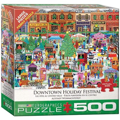 EUROGRAPHICS DOWNTOWN HOLIDAY FESTIVAL 500 PIECE PUZZLE