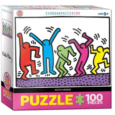 EUROGRAPHICS DANCING KEITH HARING 100 PIECE PUZZLE