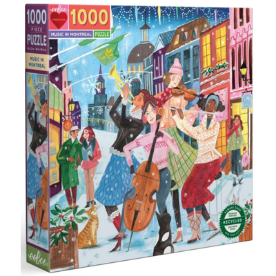 EEBOO MUSIC IN MONTREAL 1000 PIECE PUZZLE