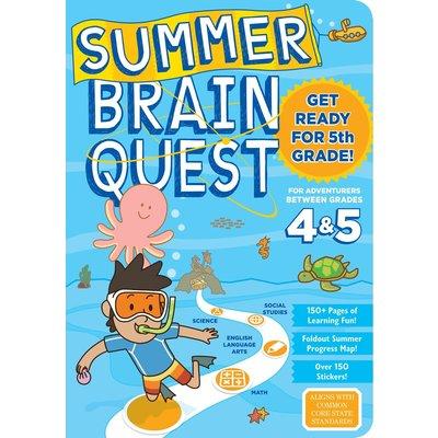 WORKMAN PUBLISHING SUMMER BRAIN QUEST: BETWEEN GRADES 4 & 5