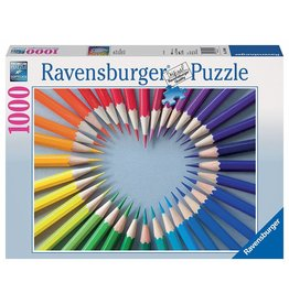 RAVENSBURGER USA COLOR MY HEART 1000 PC PUZZLE*