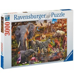 RAVENSBURGER USA AFRICAN ANIMALS 3000 PC PUZZLE