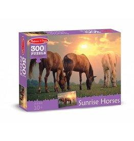 MELISSA AND DOUG SUNRISE HORSES 300 PC PUZZLE