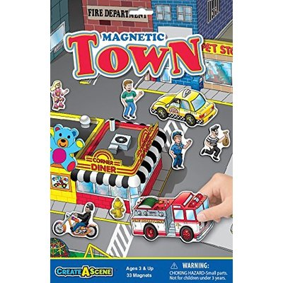 PLAYMONSTER CREATE A SCENE MAGNETIC TOWN