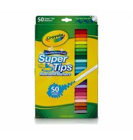 CRAYOLA 50 WASHABLE SUPER TIPS MARKERS