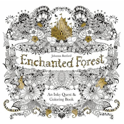 CHRONICLE PUBLISHING ENCHANTED FOREST COLORING BOOK PB BASFORD