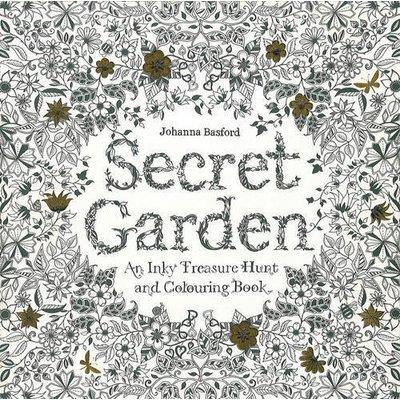 CHRONICLE PUBLISHING SECRET GARDEN COLORING BOOK PB BASFORD