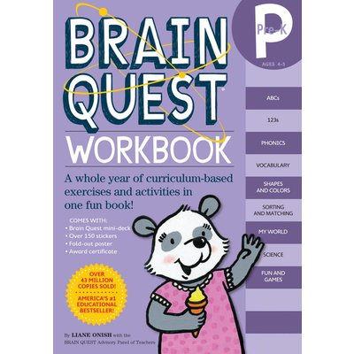 WORKMAN PUBLISHING BRAIN QUEST WORKBOOK PRE K