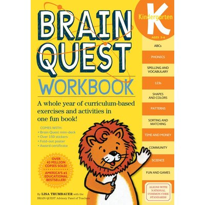 WORKMAN PUBLISHING BRAIN QUEST WORKBOOK KINDERGARTEN