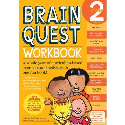 WORKMAN PUBLISHING BRAIN QUEST WORKBOOK GRADE 2
