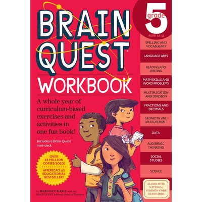 WORKMAN PUBLISHING BRAIN QUEST WORKBOOK GRADE 5