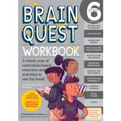 WORKMAN PUBLISHING BRAIN QUEST WORKBOOK GRADE 6