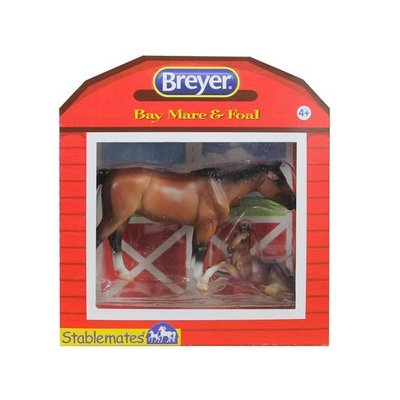 BREYER STABLEMATES HORSE AND FOAL SET