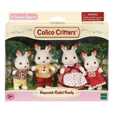 CALICO CRITTERS HOPSCOTCH RABBIT FAMILY CALICO CRITTERS