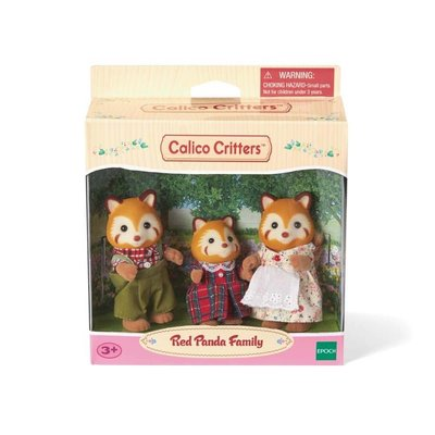 CALICO CRITTERS RED PANDA FAMILY CALICO CRITTER