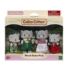 CALICO CRITTERS ELLWOODS ELEPHANT FAMILY CALICO CRITTERS