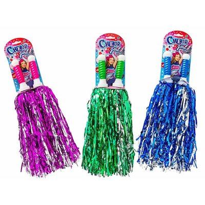 JA-RU CHEER GIRL POM POMS 2 PACK