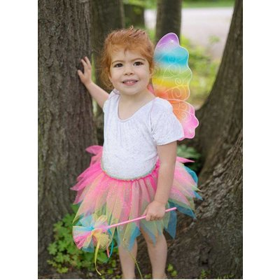 GREAT PRETENDERS NEON RAINBOW TUTU, WINGS AND WAND