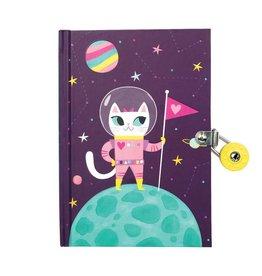 MUDPUPPY SPACE CAT LOCKED DIARY