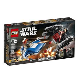 LEGO A-WING VS TIE SILENCER MICROFIGHTER