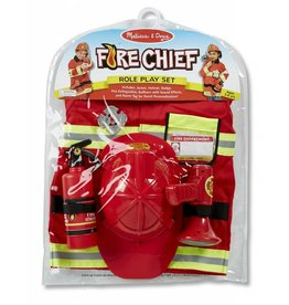 MELISSA AND DOUG FIRE CHIEF ROLE PLAY COSTUME M & D