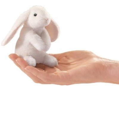 FOLKMANIS INC MINI LOP EAR BUNNY FINGER PUPPET FOLKMANIS