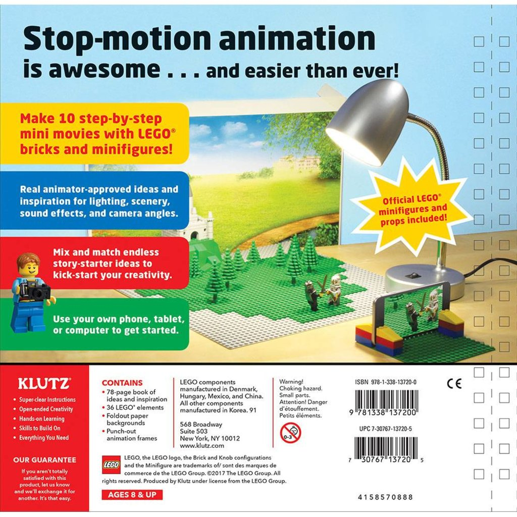 KLUTZ LEGO MAKE YOUR OWN MOVIE BOOK KLUTZ