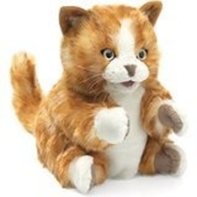 FOLKMANIS INC ORANGE TABBY KITTEN PUPPET