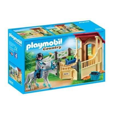 PLAYMOBIL HORSE STABLE WITH APPALOOSA PLAYMOBIL