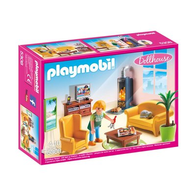PLAYMOBIL LIVING ROOM WITH FIREPLACE PLAYMOBIL