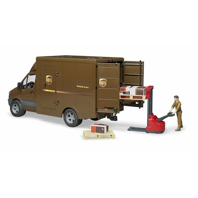 BRUDER TOYS AMERICA UPS SPRINTER WITH DRIVER AND ACCESSORIES