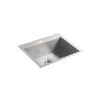 Kohler K3822 Vault 25 X 22 Medium Single Kitchen Sink Single Faucet Hole Builder Supply