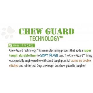 GO DOG Hear Doggy Silent Squeaker Chew Guard Flattie Giraffe Dog Toy