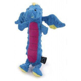 GO DOG GoDog Dragons Skinny Chew Guard Dog Toy Large, Blue
