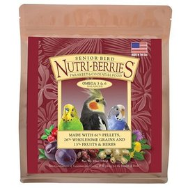 LAFEBER COMPANY Lafeber Nutri-Berries Senior Cockatiel Bird Food 3lb