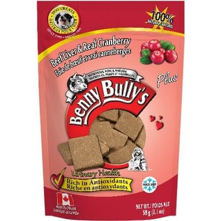 BENNY BULLY'S BENNY BULLY'S DOG FREEZE-DRIED LIVER CRANBERRY 2.1OZ