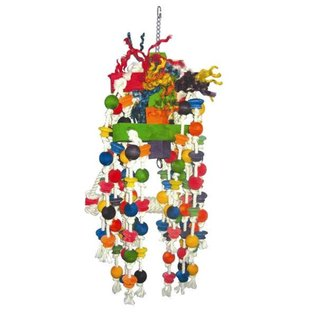 A and E Cage Co. Large Beaded Rope Swing Bird Toy with Knots