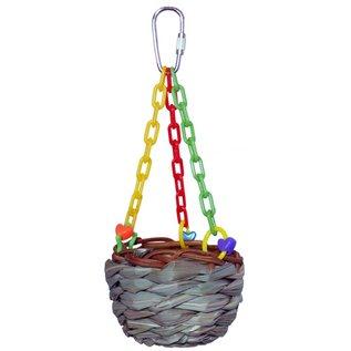 "SUPERBIRD CREATIONS Hanging Treat Basket 7"" x 3"""